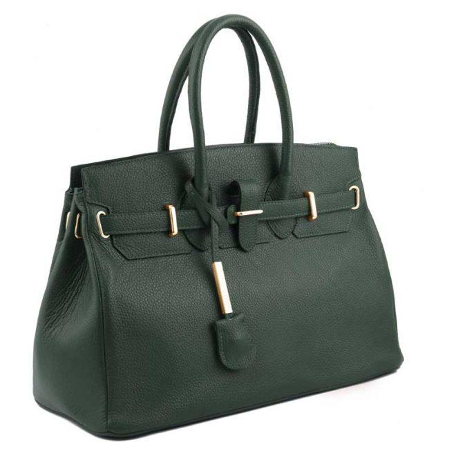 leren-damestas-tl-bag-29-groen-zijkant