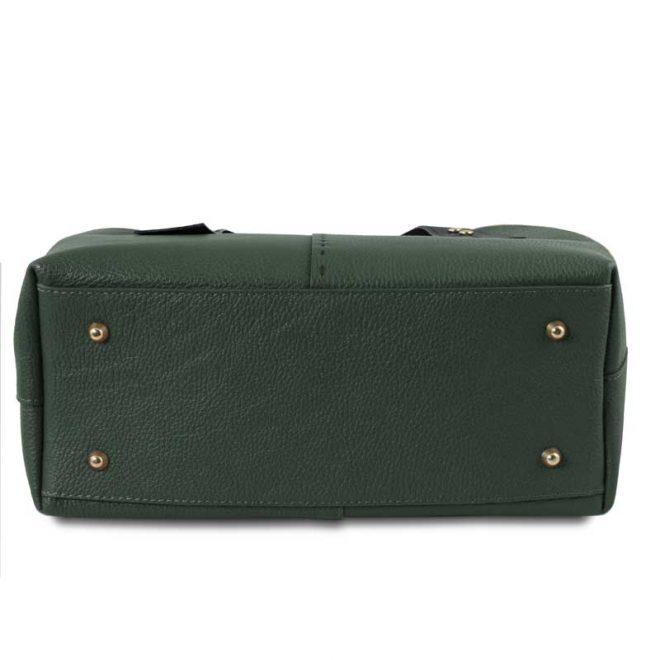 leren damestas tl bag 30 groen onderkant