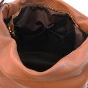 leren damestas tl bag 84 cognac binnenkant