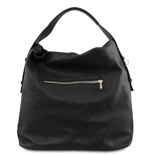 leren damestas tl bag 84 zwart achterkant