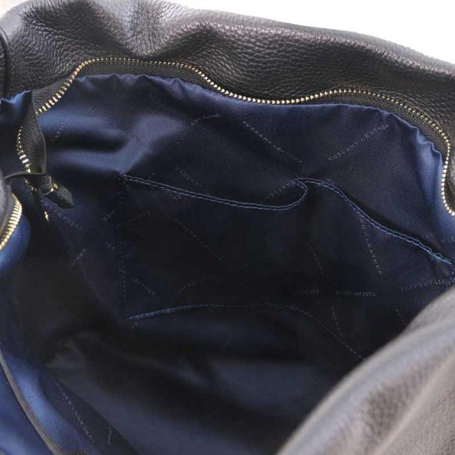 leren damestas tl bag 84 zwart binnenkant