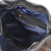 leren damestas tl bag 84 zwart vak met rits