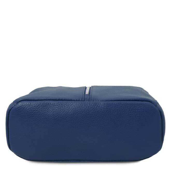 leren rugtas dames tl bag 82 blauw onderkant