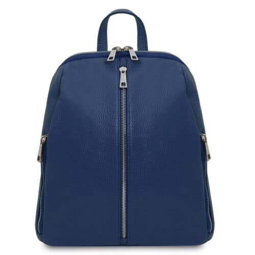 leren rugtas dames tl bag 82 blauw voorkant