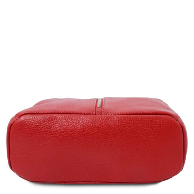 leren rugtas dames tl bag 82 rood onderkant