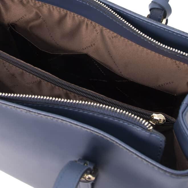 leren damestas tl bag 37 blauw open vak