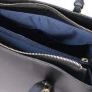 leren damestas tl bag 37 zwart open vak