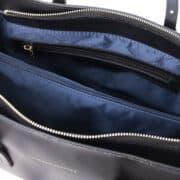 leren damestas tl bag 37 zwart rits