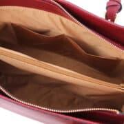 leren damestas tl bag 37 rood open vakken