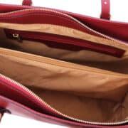 leren damestas tl bag 37 rood vak met rits