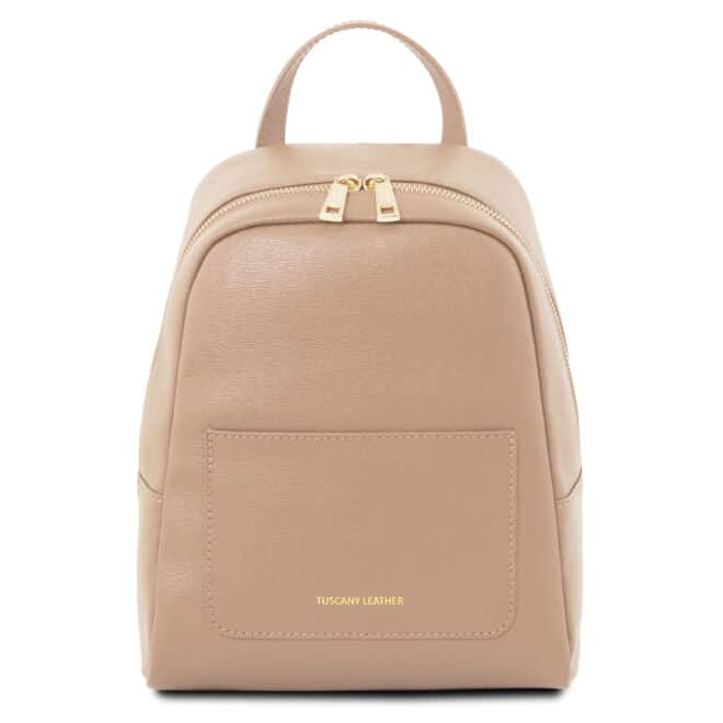 leren rugzak dames tl bag 01 roze voorkant