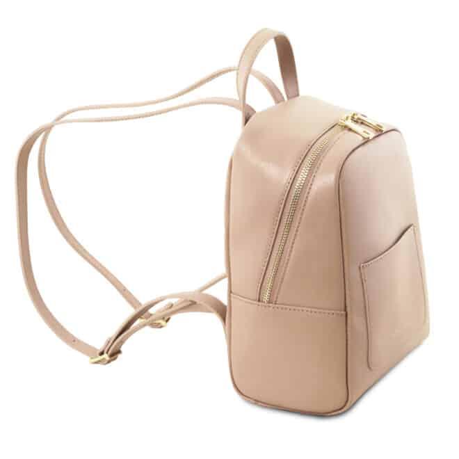 leren rugzak dames tl bag 01 roze zijkant