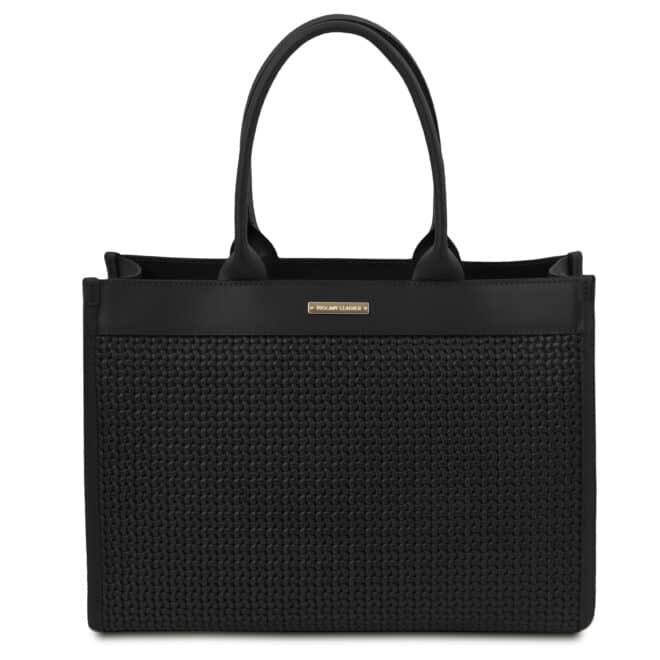 leren damestas tl bag 24 zwart voorkant