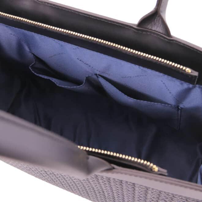 leren damestas tl bag 24 zwart open vakken