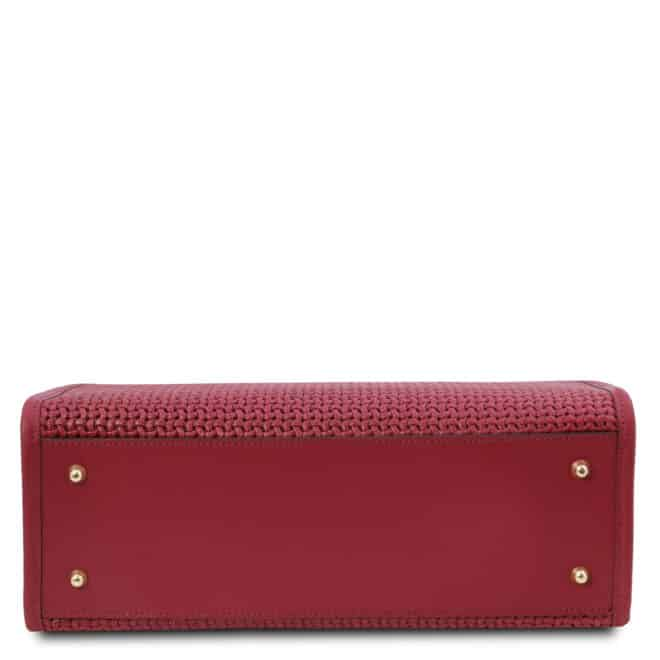 leren damestas tl bag 24 rood onderkant