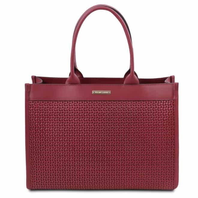 leren damestas tl bag 24 rood voorkant
