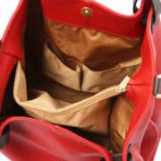 leren damestas tl bag 40 rood binnenkant