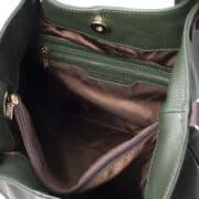 leren damestas tl bag 40 groen binnenvak met rits