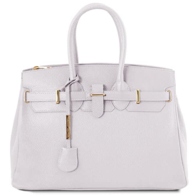 leren dames handtas tl bag 29 wit voorkant