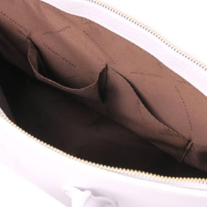 leren dames handtas tl bag 29 wit binnenvak