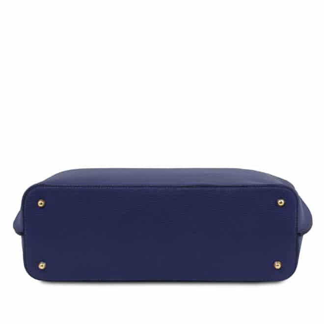 leren damestas tl bag 28 blauw onderkant