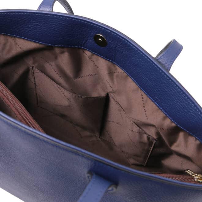 leren damestas tl bag 28 blauw binnenvak