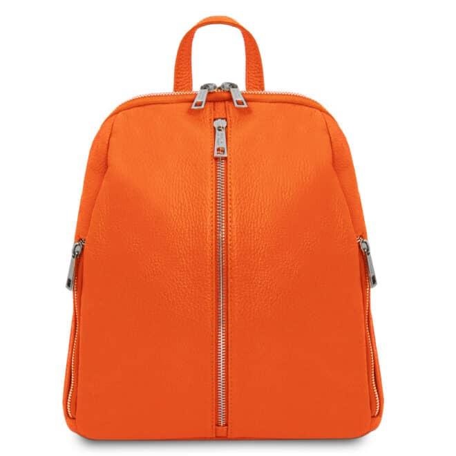 leren dames rugtas tl bag 82 oranje voorkant