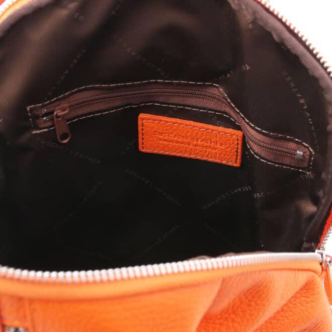 leren dames rugtas tl bag 82 oranje binnenkant