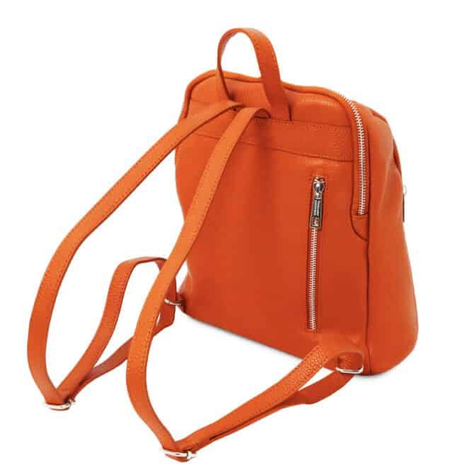 leren dames rugtas tl bag 82 oranje achterkant