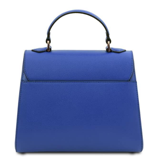 leren damestas tl bag 51 blauw achterkant