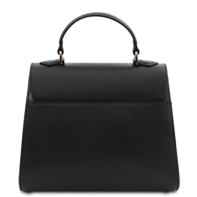 leren damestas tl bag 51 zwart achterkant
