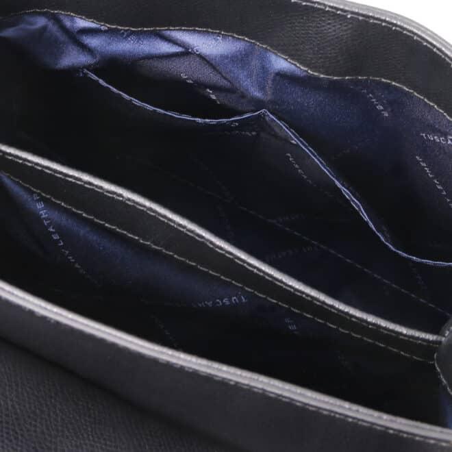 leren damestas tl bag 51 zwart open vakken