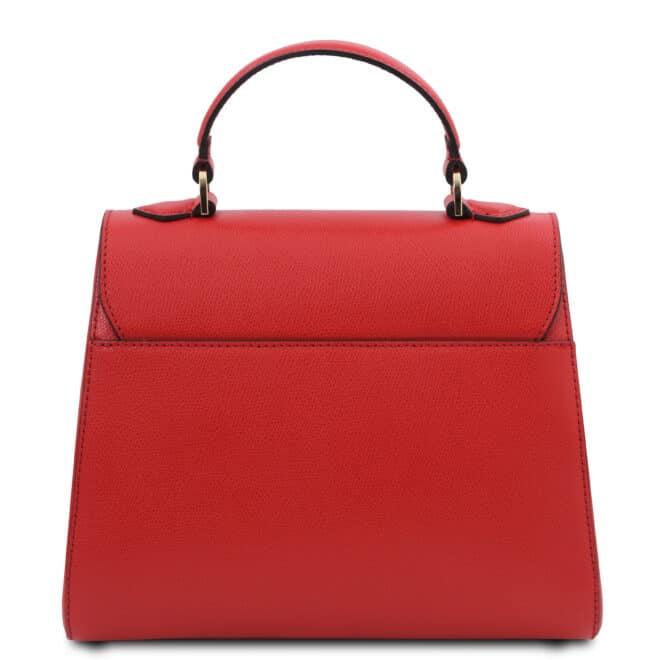 leren damestas tl bag 51 rood achterkant