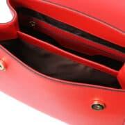 leren damestas tl bag 51 rood vak met rits
