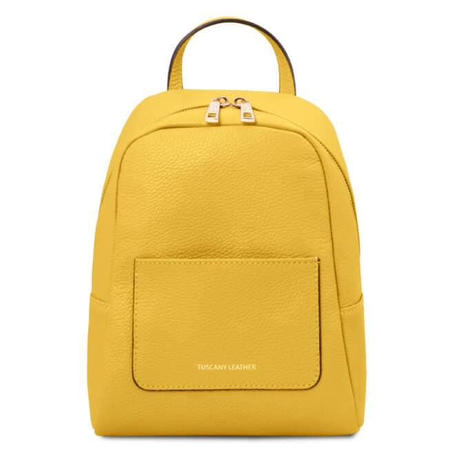 leren rugzak tl bag 52 geel voorkant