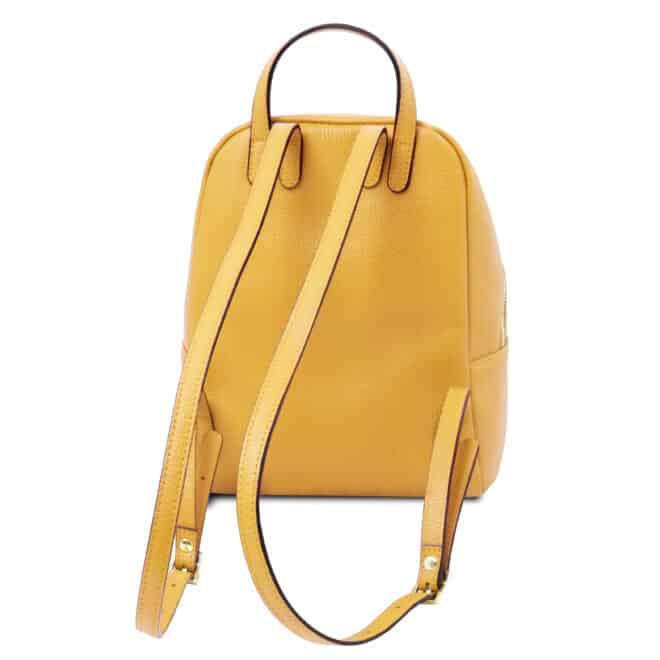 leren rugzak tl bag 52 geel achterkant