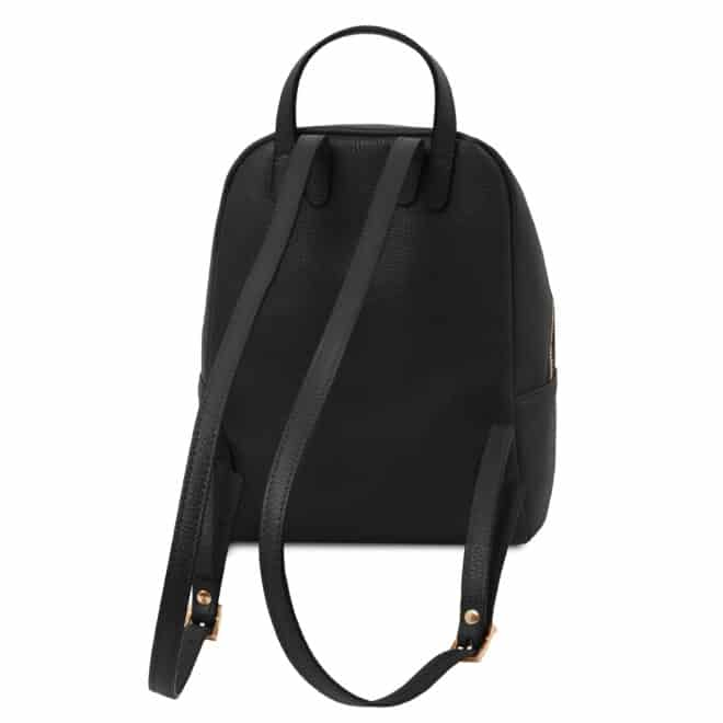 leren rugzak tl bag 52 zwart achterkant