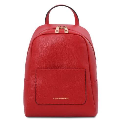 leren rugzak tl bag 52 rood voorkant