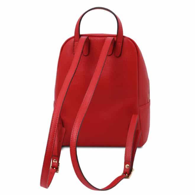leren rugzak tl bag 52 rood achterkant