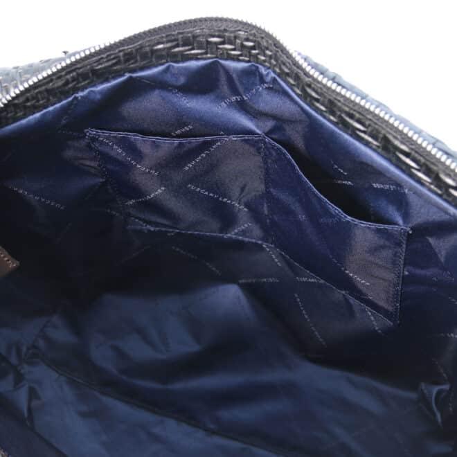 leren damestas TL bag 66 zwart open vakken