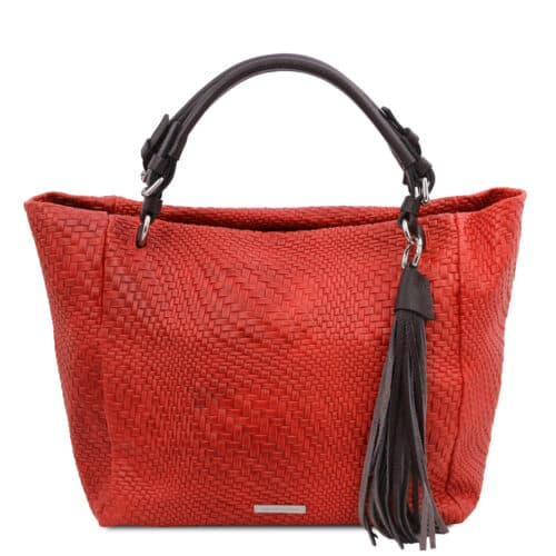 leren damestas TL bag 66 rood voorkant