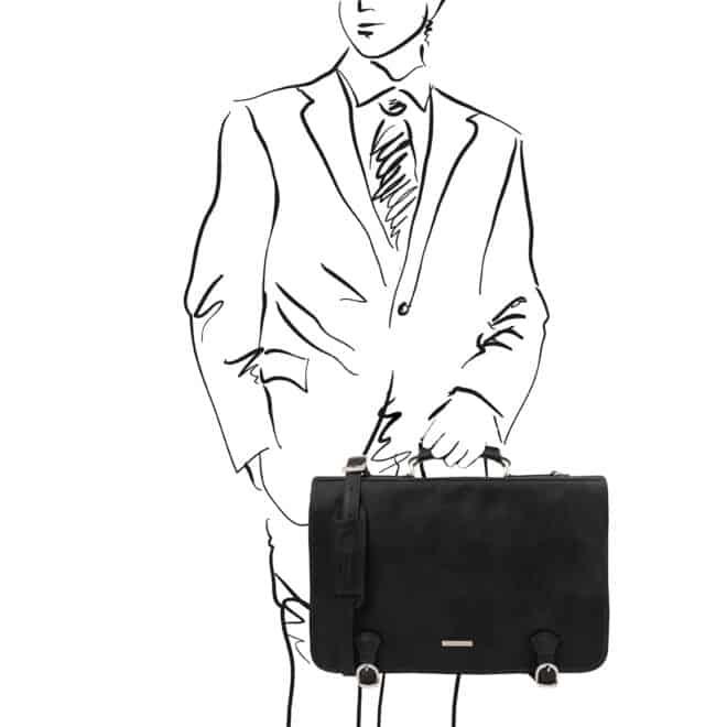 leren aktetas Ancona XL zwart handtas
