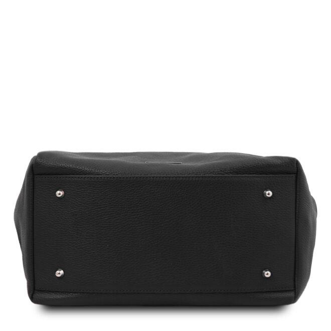 leren damestas tl bag 48 zwart onderkant