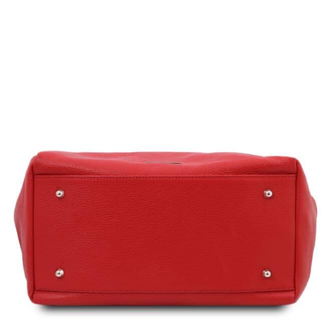 leren damestas tl bag 48 rood onderkant