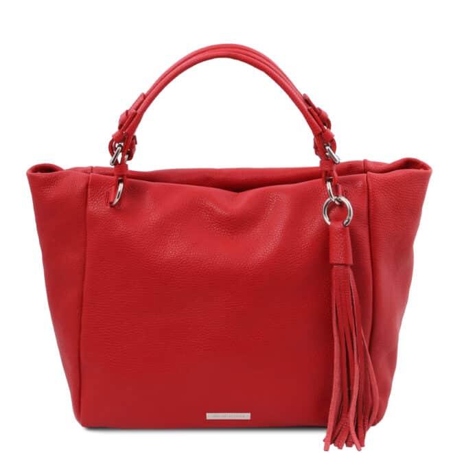 leren damestas tl bag 48 rood voorkant