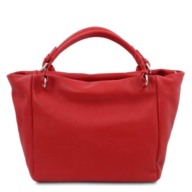 leren damestas tl bag 48 rood achterkant
