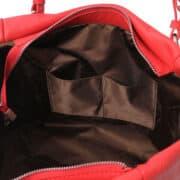 leren damestas tl bag 48 rood binnenkant open vakken