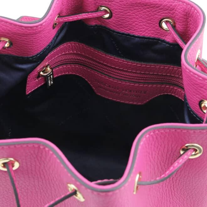 leren damestas TL bag 83 fuchsia binnenkant vak met rits