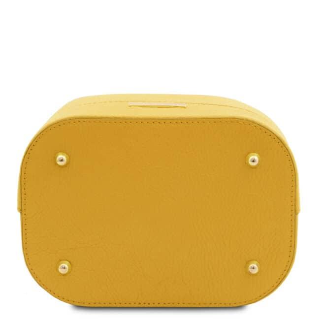 leren damestas TL bag 83 geel onderkant