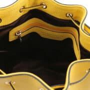 leren damestas TL bag 83 geel binnenkant vak met rits